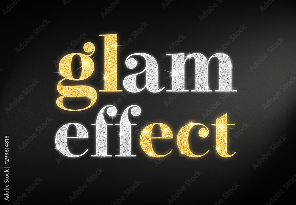Fototapety, obrazy: Glitter text effect