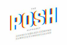 Modern Font Design, Vibrant Al...