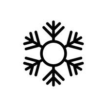 Black Snowflake Icon Isolated On White Background. Vector Illustration. EPS10