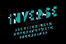 Inverse Style Modern Font, Alp...