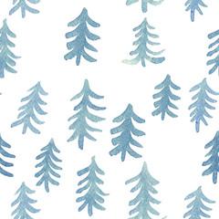 Watercolor seamless blue pa...