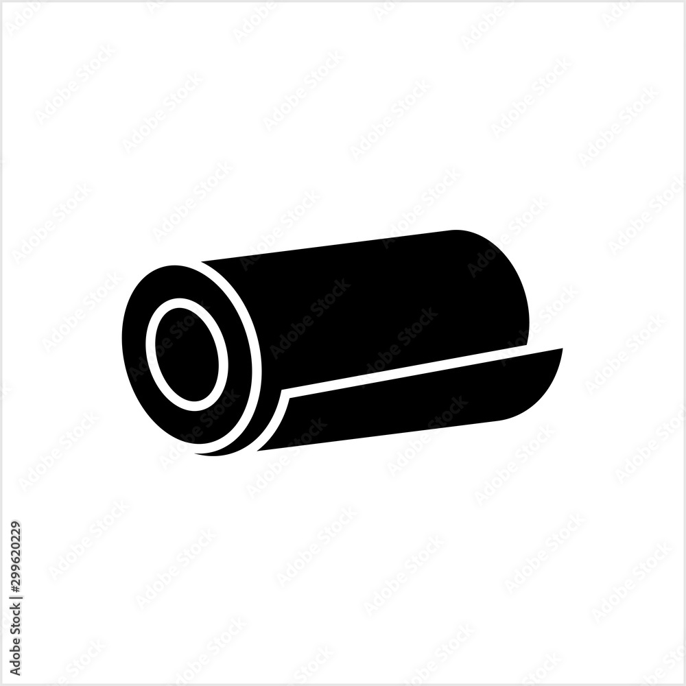 Fototapety, obrazy: Roll Icon, Mat, Rug, Carpet Or Paper Roll Icon Of Anything