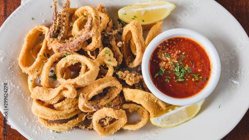 Fototapeta Italian dish - Fried Calamari obraz