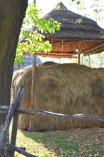 Haystack In Village, Dry Grass...