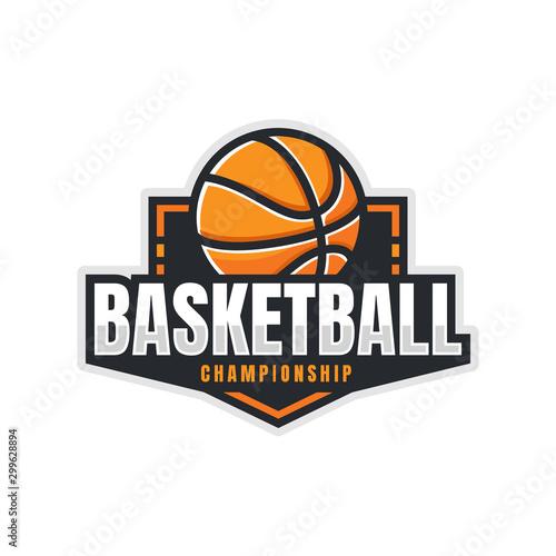 Cuadros en Lienzo Basketball Logo, American Logo Sport