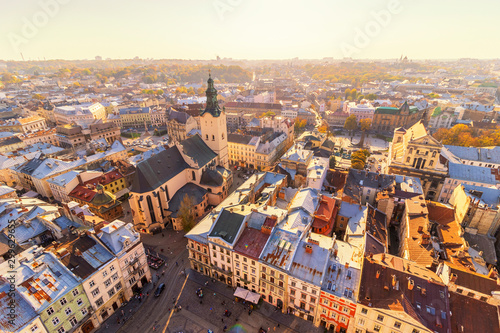In de dag Oost Europa The city of Lviv has a beautiful panorama