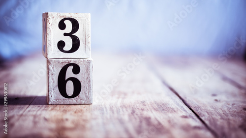 Number 36, thirty six, three and six - date, anniversary, birthday Fototapet
