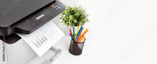 Fotografiet Printer, copier device in office
