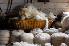 Ancient Fabric Production Weaving Sheep Wool Skeins Knitting
