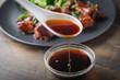 teriyaki sauce image with chicken and broccoli