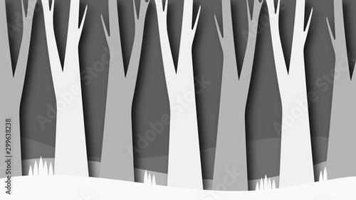 Photo Natural Landscape Cartoon Background Illustration Dense Forest