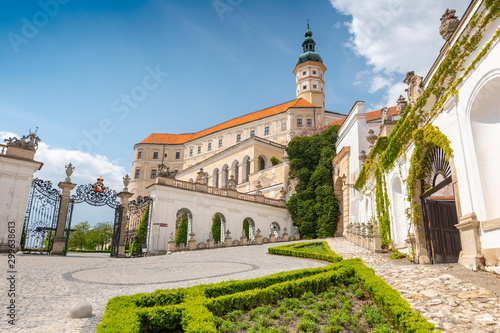 Photo  Mikulov Castle in the town of Mikulov in South Moravia, Czech Republic