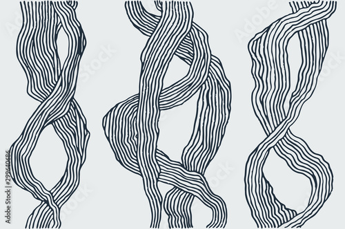 Doodle hand-drawn abstract background Canvas-taulu