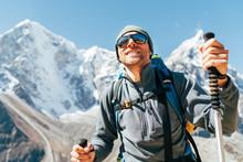 Portrait Of Smiling Hiker Man ...