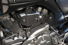 A High Gloss Motorcycle Engine