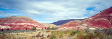 Pulchritudinous Images In The Polychromatic Painted Hills Unit Of The John Day Fossil Beds.  Listed As One Of The Seven Wonders Of Oregon. Located Outside The Quaint Town Of Mitchell In Wheeler County