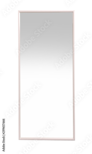 Fotomural Beautiful large mirror isolated on white. Home decor