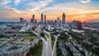 canvas print picture Atlanta, Georgia, USA Skyline Aerial Panorama