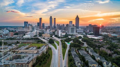 Photo Atlanta, Georgia, USA Skyline Aerial Panorama