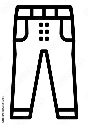 gz559 GrafikZeichnung - german - Kleidung / Hose Symbol: english - jeans pants / clothing / trousers icon: close-up - simple template isolated on white background - xxl g8667