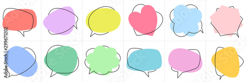 Fotografía  Set of flat colorful bubble speech vector