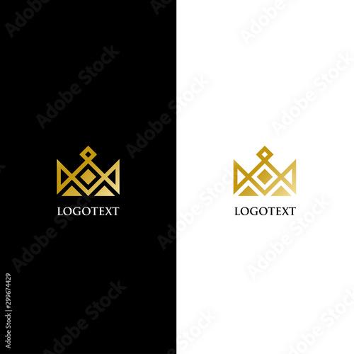 Fototapeta  Crown logo design. Creative luxury crown king icon