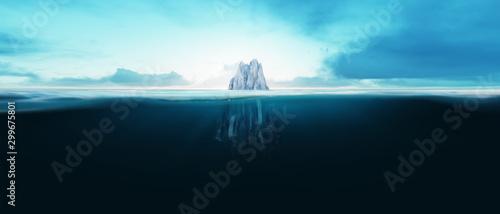 Fotografia Iceberg underwater in the ocean