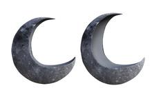 Hollow Half Crescent Moon Prop...