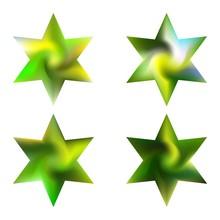 Set Of Hexagram Modern Backgrounds.