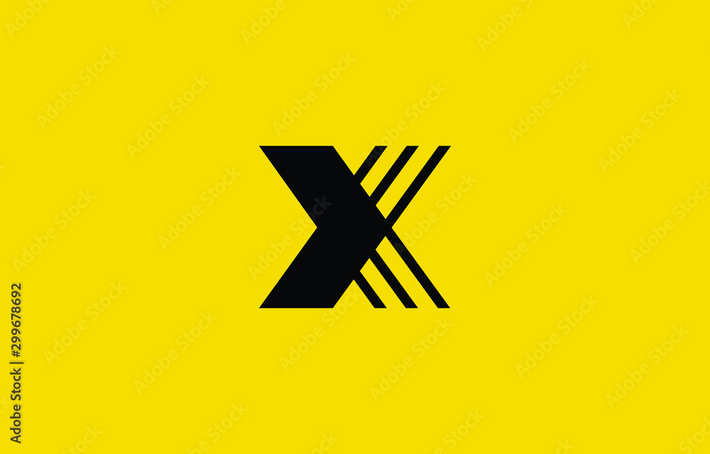 Fototapety, obrazy: Initial based clean and minimal X Logo. XK KX letter creative fonts monogram icon symbol. Universal elegant luxury alphabet vector design