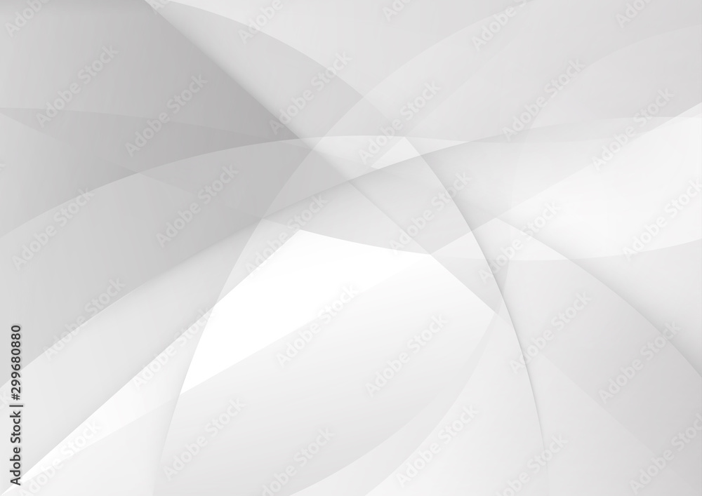 Fototapety, obrazy: White and grey background. Corporate technology modern design. Pattern style geometric. Abstract modern background used about technology or product presentation backdrop. Vector illustration.