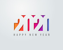 Paper Art Of 2020 Happy New Year