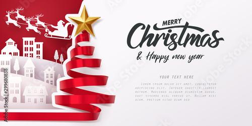 Carta da parati Merry Christmas and happy new year