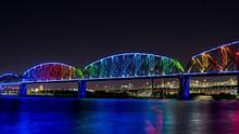 Walking Bridge With Stars In The Night Sky