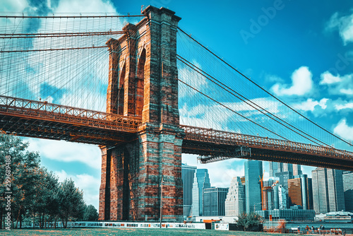 Photo View Brooklyn Bridge from Empire Fulton Ferry State Park