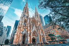 New York, USA, Cathedral Of St...