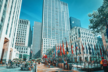 New York. USA. Rockefeller Center Is A Large Commercial Buildings.