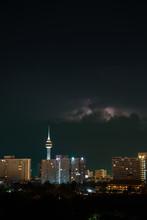 Night City, Thunderstorm, Ligh...