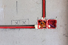 Hydropower Construction Installation And Red Wire Pipe For Building Renovation