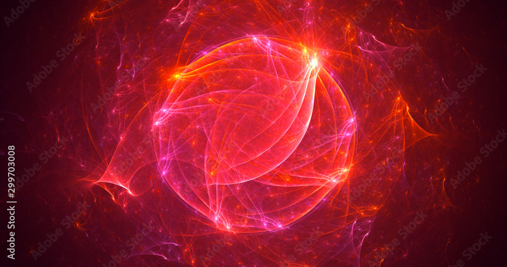 Fototapety, obrazy: Fractal 3D rendering abstract light background