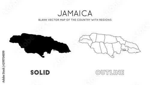 Jamaica map Canvas-taulu