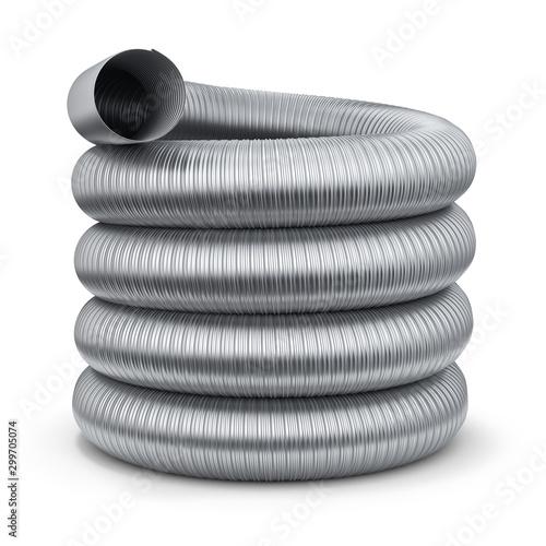 Fotografia Flexible chimney flue liner duct pipe - 3D illustration
