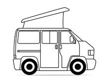 Bus Camper Faltdach Kontur