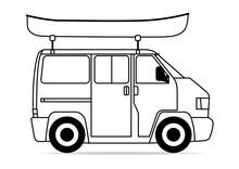 Campingbus Kanu Dachgepäckträger