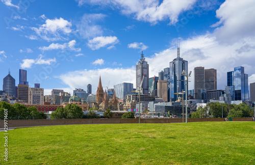 Melbourne cityscape skyline Wallpaper Mural