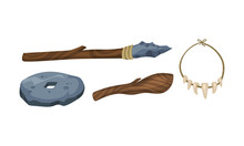 Set Of Tools Of Ancient People...