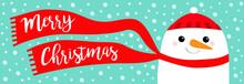 Merry Christmas Banner. Snowma...