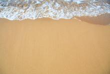 Bright Sandy Beach Coastline.