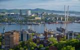 Vladivostok cityscape, detail view at daylight.