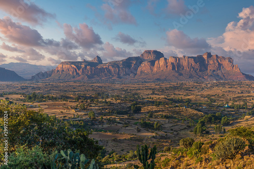 Foto auf Leinwand Lachs The landscape of Gheralta in Tigray, Northern Ethiopia